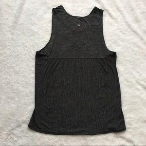 Lululemon women's tank top shirt gray sz 12 L/ XL